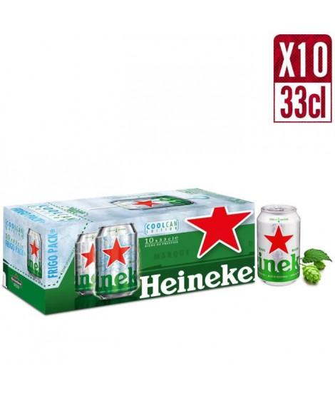 HEINEKEN Biere blonde Premium Fridgepack - 10 x 33 cl