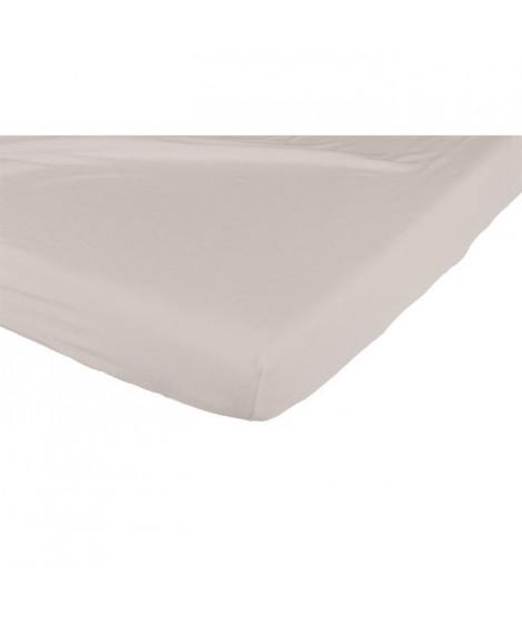 CANDIDE Drap Housse Jersey Coton 60x120 cm Taupe