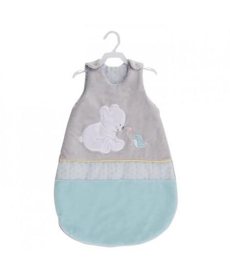 TINEO Douillette naissance Pilou - S'adapte aux bébés des la naissance - Extérieure en soft boa et intérieur jersey