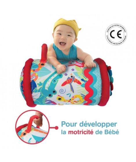 LUDI Rouleau de bébé - Tissu, polyester et PVC - 40 x 27 cm – A partir de 6 mois
