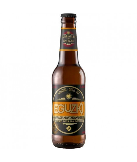 Eguzki - Biere Ambrée - 4,5 % Vol. - 33 cl