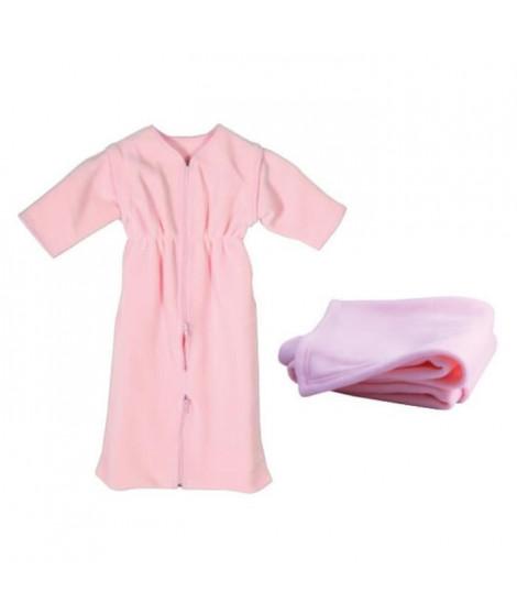 DOMIVA Gigoteuse + plaid - 0-6 mois - 70 x 80 cm - Bébé fille - Rose peche