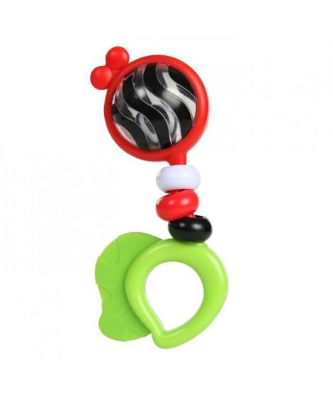 BABY EINSTEIN Hochet et jouet de dentition Bright Bold Rattle & Teether - Multicolore