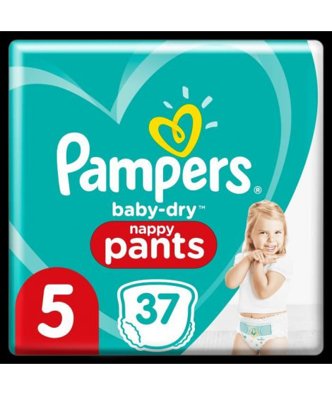 Pampers Baby-Dry Pants Couches-Culottes Taille 5, 37 Culottes