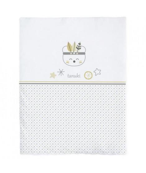 TANUKI Housse de couette Indian - 100% coton - 40x180x3 cm