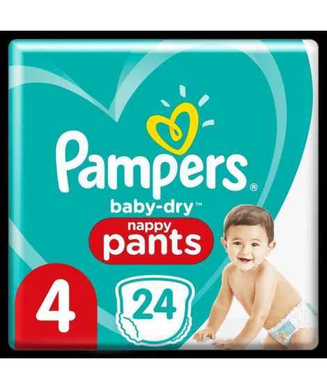 Pampers Baby-Dry Pants Couches-Culottes Taille 4, 24 Culottes