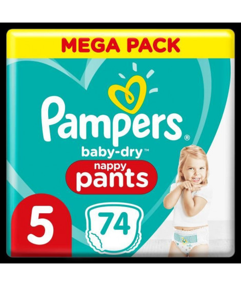 Pampers Baby-Dry Pants Couches-Culottes Taille 5, 74 Culottes