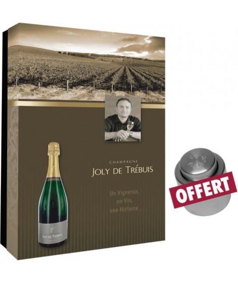 coffret vide Joly de Trebuis pour 2 bout et bouchon champagne