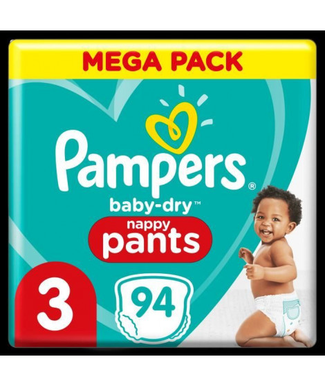 Pampers Baby-Dry Pants Couches-Culottes Taille 3, 94 Culottes