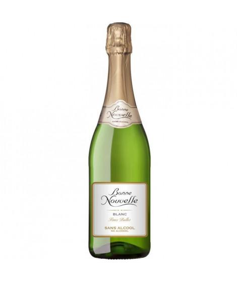 Bonne Nouvelle - Fines Bulles - Blanc - Boisson a Base de Raisin - Sans Alcool
