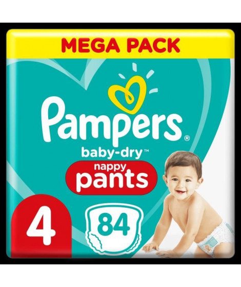 Pampers Baby-Dry Pants Couches-Culottes Taille 4, 84 Culottes
