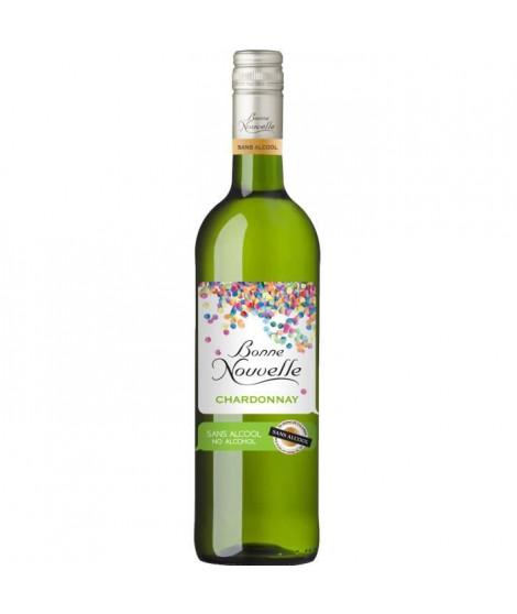 Bonne Nouvelle - Chardonnay - Blanc - Boisson a Base de Raisin - Sans Alcool