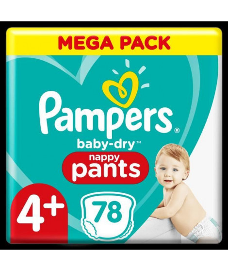 Pampers Baby-Dry Pants Couches-Culottes Taille 4+, 78 Culottes