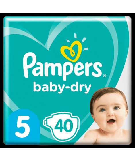 Pampers Baby-Dry Taille 5, 40 Couches