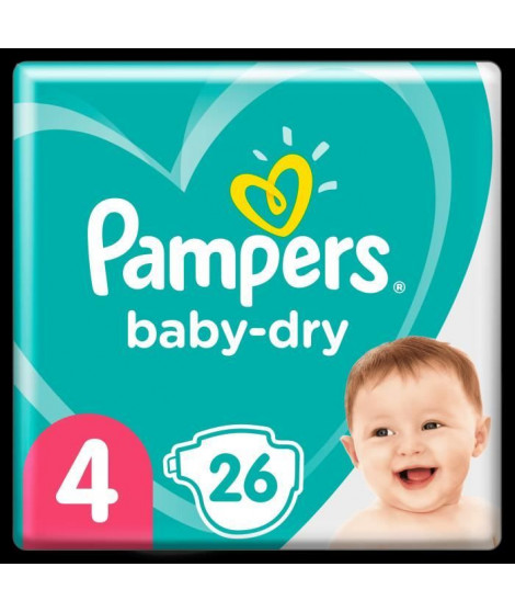 Pampers Baby-Dry Taille 4, 26 Couches