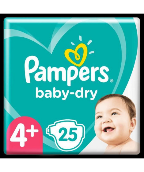 Pampers Baby-Dry Taille 4+, 25 Couches