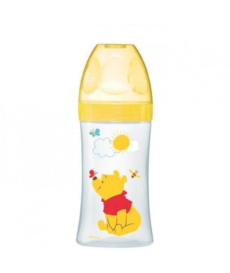 WINNIE Dodie Biberon Sensation+  270 ml Jaune - De 0 a 6 mois - Disney Baby