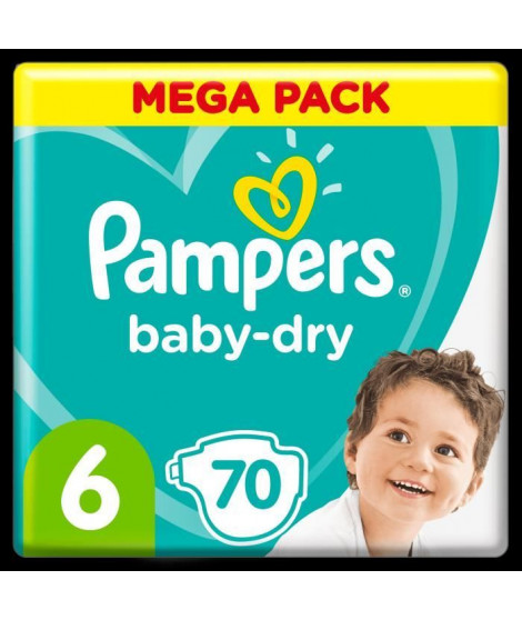 Pampers Baby-Dry Taille 6, 70 Couches