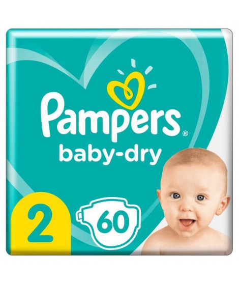 Pampers Baby-Dry Taille 2, 60 Couches