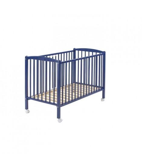 COMBELLE LIT ARTHUR 70x140 laque bleu