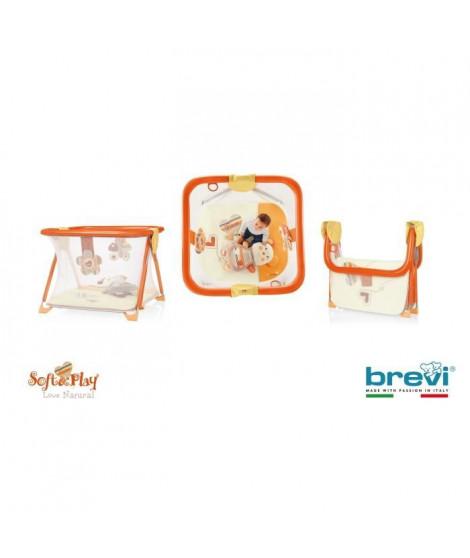 BREVI Parc bébé Soft & Play Activity center Love Naturel