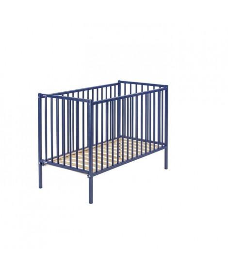 COMBELLE LIT REMI 70x140 laque bleu