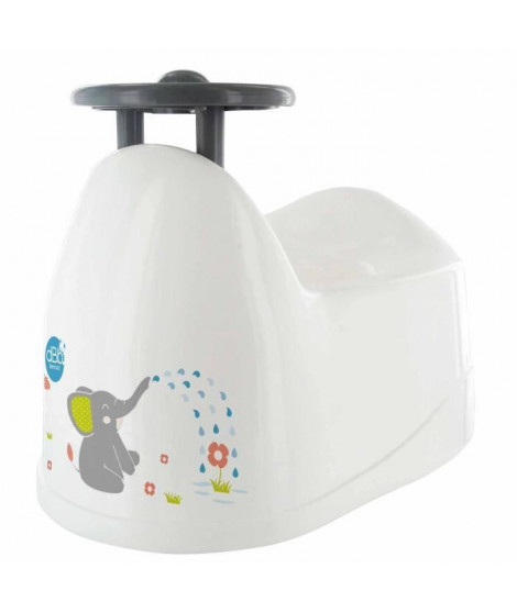 DBB REMOND Pot bébé - Décor éléphant avec volant - Bébé mixte - Blanc