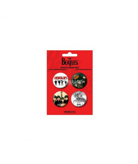 Badges rouges The Beatles