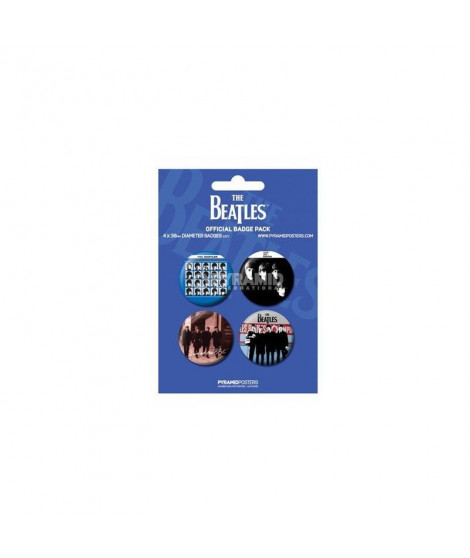 Badges bleus The Beatles