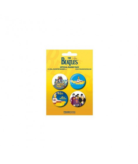 Badges jaunes The Beatles