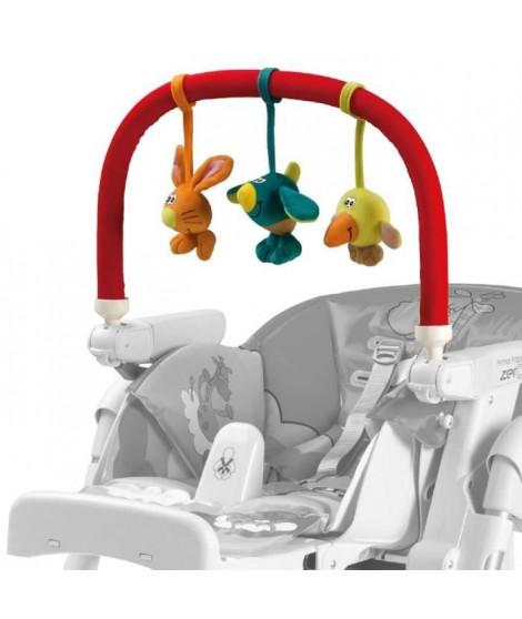 PEG PEREGO Arche de jeux pour chaise haute  - Multicolore