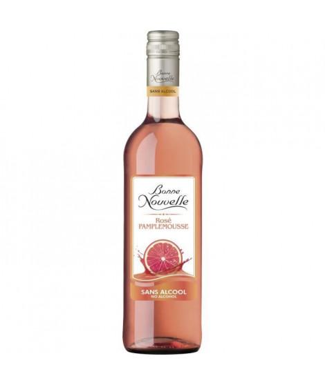 Bonne Nouvelle - Rosé - Pamplemousse - Boisson a Base de Raisin - Sans Alcool