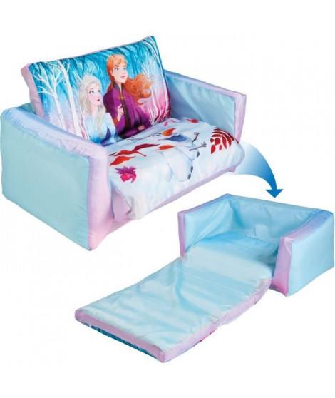 DISNEY FROZEN Mini canapé convertible La Reine des Neiges - Canapé-lit gonflable pour enfants - Bleu