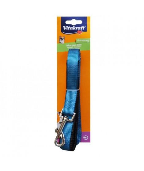 VITAKRAFT Laisse en nylon Premium Doublé XS / S - Bleu - Pour chien