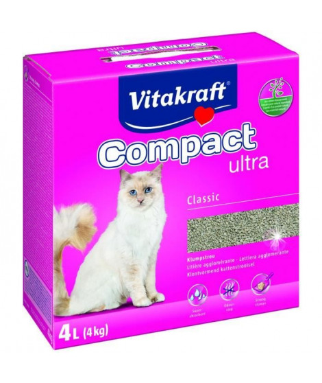 VITAKRAFT Litiere Compact Ultra - 4 L - Pour chat