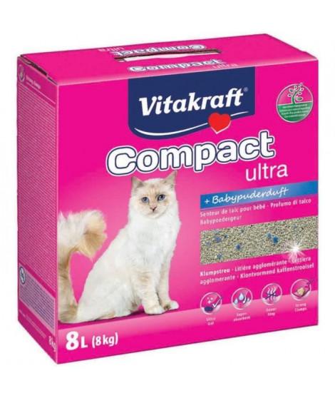 VITAKRAFT Litiere Compact Ultra Plus - 8 L - Pour chat