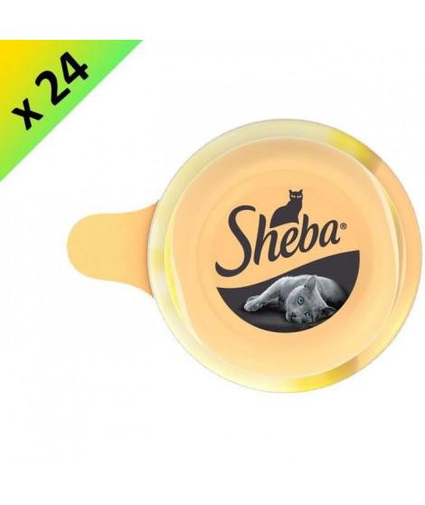 SHEBA Dôme au blanc de poulet - Pour chat - 80 g (x24)