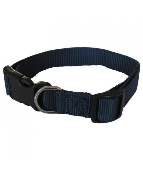 YAGO Collier Classique Bleu en Nylon pour moyen chien, taille M 34-53 cm
