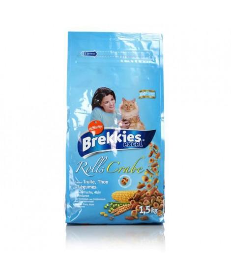 BREKKIESCroquettes aux poissons - Chat - 1,5 Kg