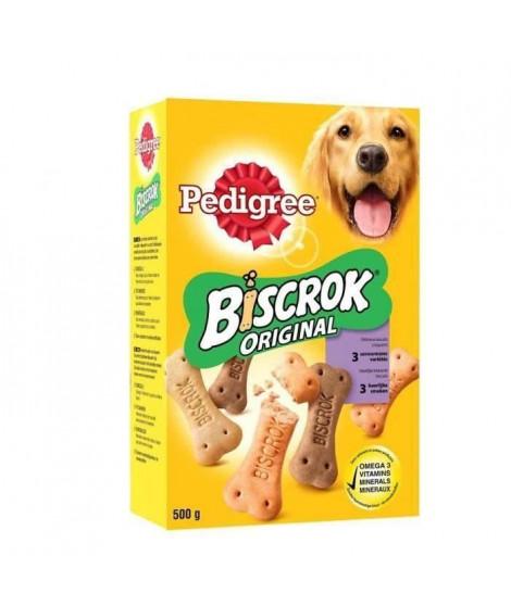PEDIGREE Biscrok Biscuits 3 variétés - Pour chien - 500 g (x12)