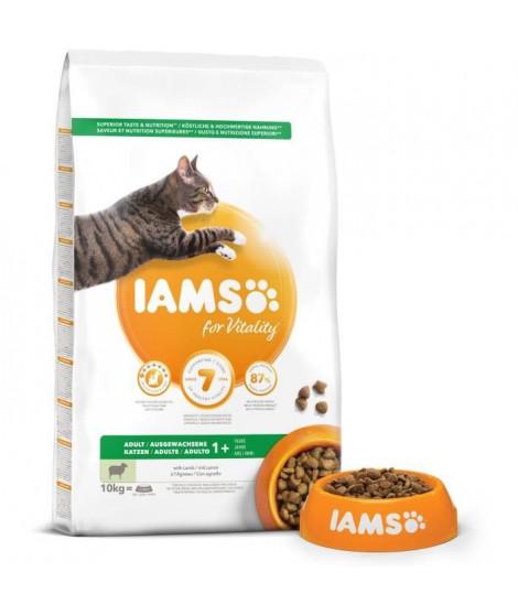 IAMS Vitality Croquettes premium chats adultes 100% Completes et équilibrées - A l'Agneau - Sans OGM Colorant - 10kg
