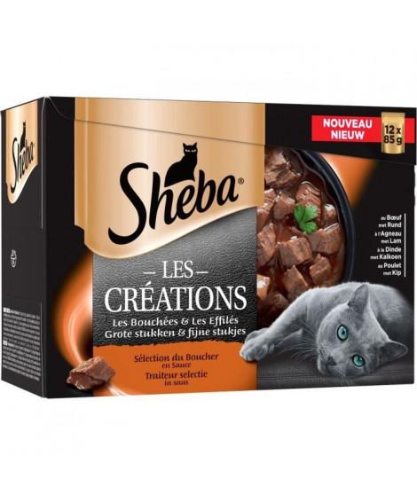 SHEBA Sachets fraîcheur en sauce sélection du boucher - Pour chat - 12 x 85 g