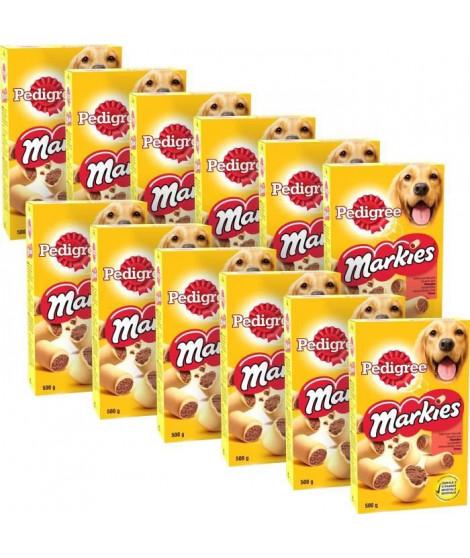 PEDIGREE Markies Biscuits fourrés - Pour chien - 500 g (x12)