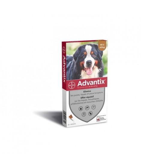 ADVANTIX 4 pipettes antiparasitaires - Pour tres grand chien de 40 a 60 kg - 4 x 6 ml