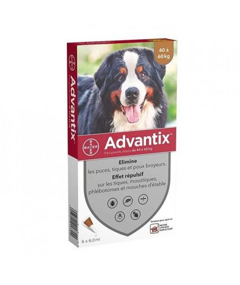 ADVANTIX 6 pipettes antiparasitaires - Pour tres grand chien de 40 a 60 kg - 6 x 6 ml