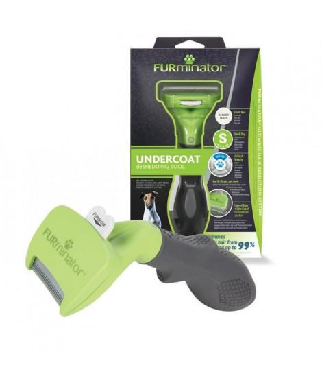 FURMINATOR Outil de Toilettage - Elimine 90% des poils Morts - Nettoyage en 1 clic - Pour chiens de petite taille