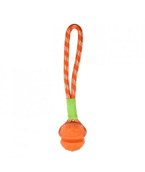 BUBIMEX Balle en TPR avec corde - Pour chien
