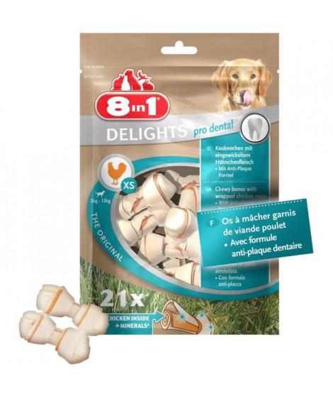8in1 Dental Delights XS Value Bag 21pcs Os a mâcher pour chien