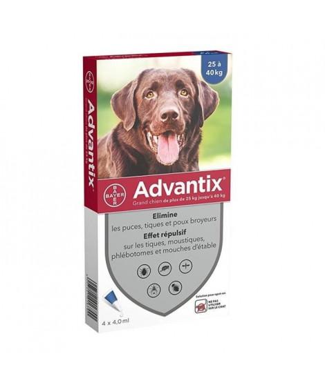 ADVANTIX 4 pipettes antiparasitaires - Pour grand chien de plus de 25kg