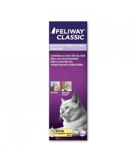 FELIWAY Spray anti-stress 60 ml - Pour chat